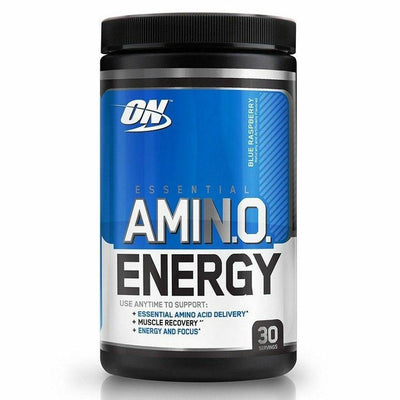Optimum Nutrition Sports Nutrition & More Blue Raspberry Optimum Nutrition Amino Energy 30 Servings (581173674028)