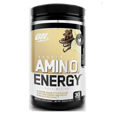 Optimum Nutrition Sports Nutrition & More Iced Cafe Vanilla Optimum Nutrition Amino Energy 30 Servings (581173674028)