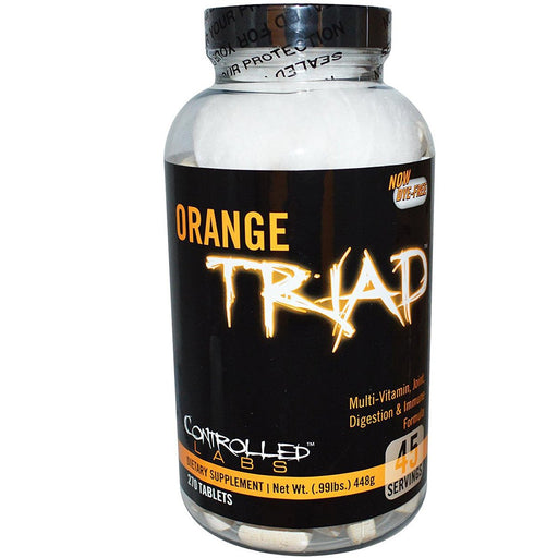 Controlled Labs Sports Nutrition & More Controlled Labs Orange Triad 270 Tabs (581097521196)
