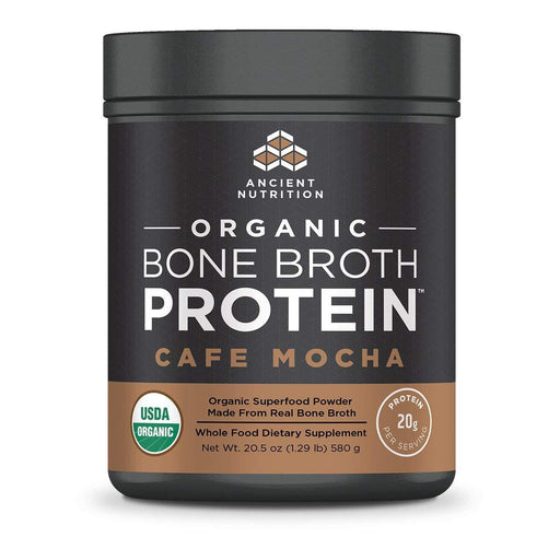 Ancient Nutrition Protein Powders Cafe Mocha Ancient Nutrition Organic Bone Broth Protein (1392046047276)
