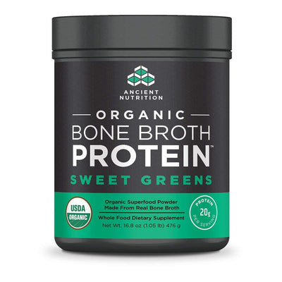 Ancient Nutrition Protein Powders Sweet Greens Ancient Nutrition Organic Bone Broth Protein (1392046047276)