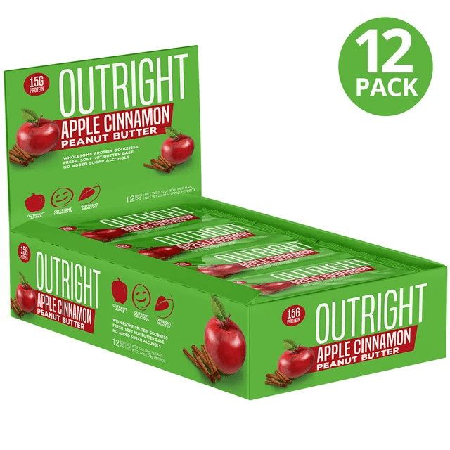 MTS Nutrition Bars Apple cinnamon Peanut Butter MTS Nutrition Outright Bar 12/Box (3899430764588)