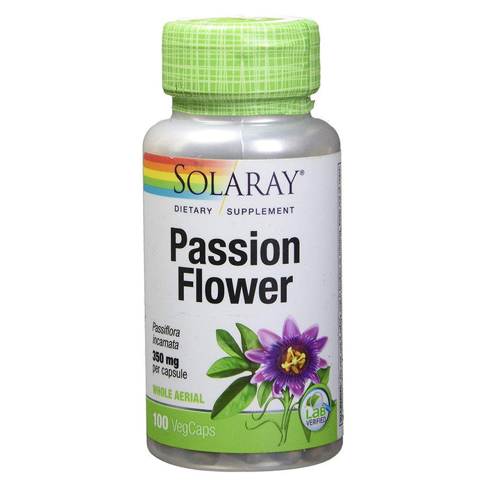 Solaray Vitamins, Minerals, Herbs & More Solaray Passion Flower 350mg 100 Caps (580506714156)