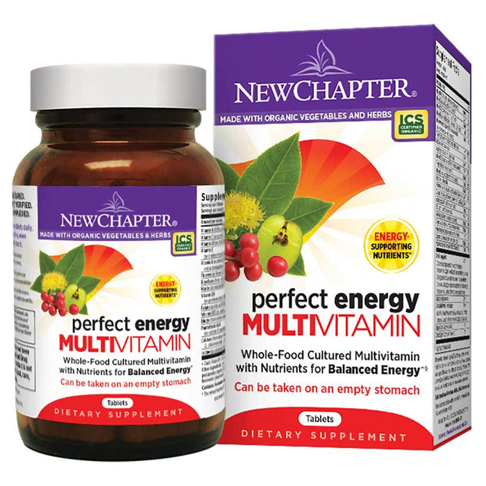 New Chapter Vitamins, Minerals, Herbs & More New Chapter Perfect Energy Multivitamin 36 Tabs (581215682604)