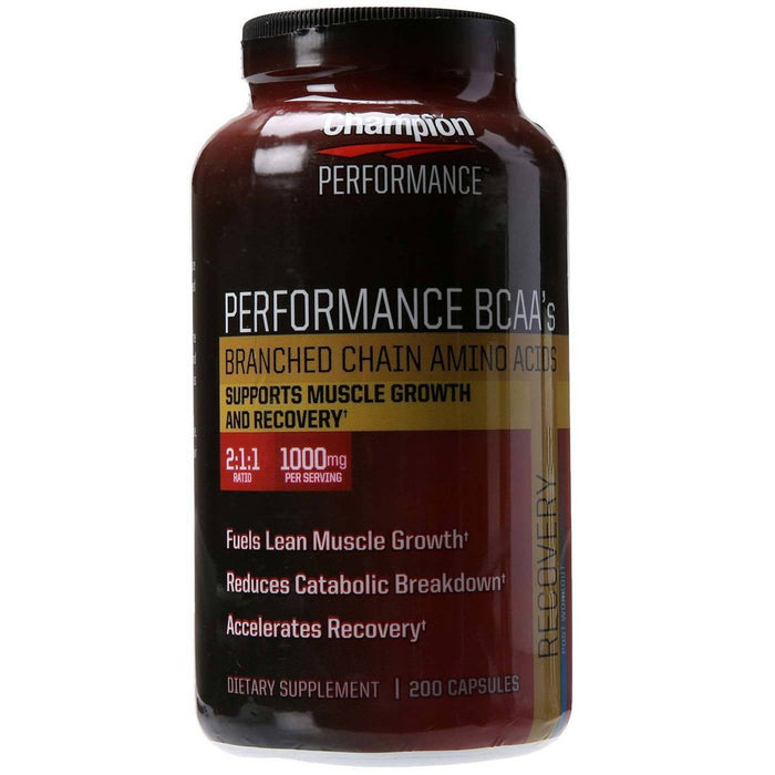 Champion Nutrition Sports Nutrition & More Champion Nutrition Wellness Nutrition Performance BCAAs 200 Caps (581815697452)