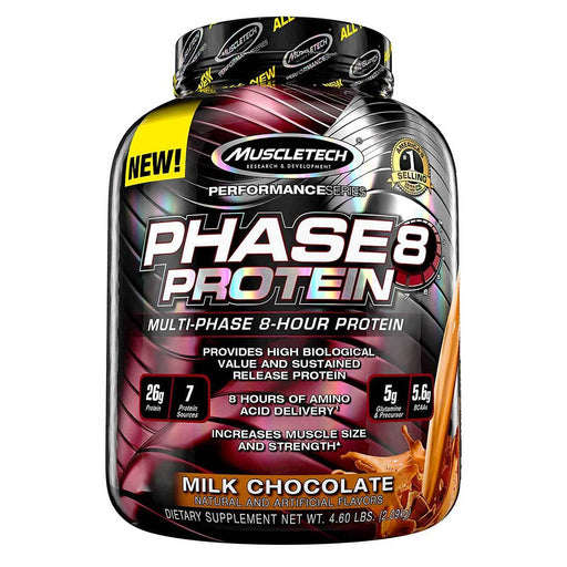 MuscleTech Sports Nutrition & More Milk Chocolate MuscleTech Phase 8 4.4 Lbs (581636816940)