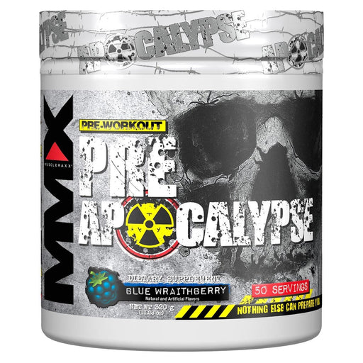MuscleMaxx Sports Nutrition & More Blue Raspberry MuscleMaxx Pre Apocalypse 50 Servings (582552617004)
