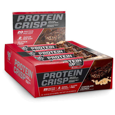 BSN Bars Chocolate Crunch BSN Protein Crisp 12/Box (1392515579948)