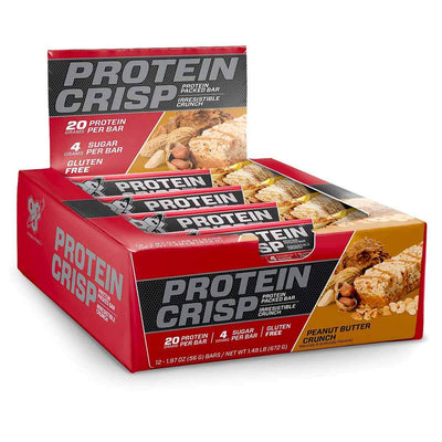 BSN Bars Peanut Butter Crunch BSN Protein Crisp 12/Box (1392515579948)