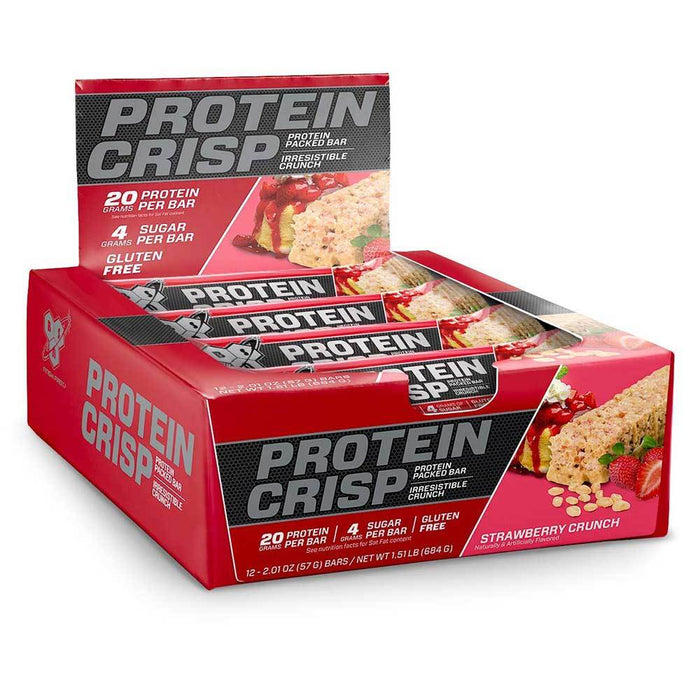 BSN Bars Strawberry Crunch BSN Protein Crisp 12/Box (1392515579948)