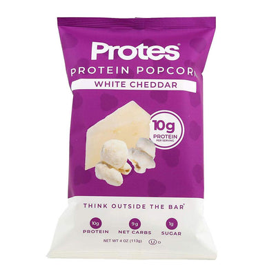 PROTES Foods Juices White Cheddar Protes Protein Popcorn 24/Box 1.4oz Bags (1865111240748)
