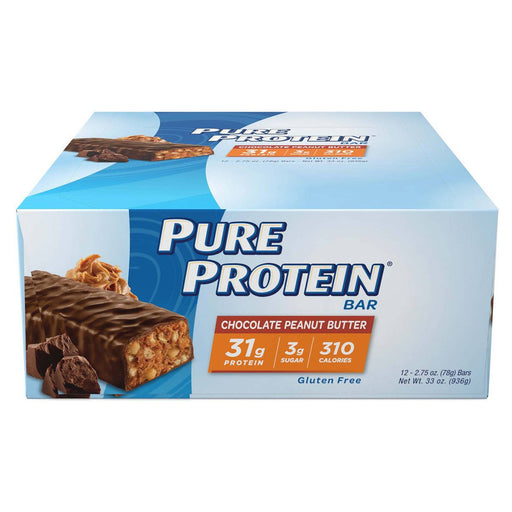 WorldWide Sports Nutrition & More Chocolate Peanut Butter WorldWide Pure Protein Bar 12/Box (580802969644)