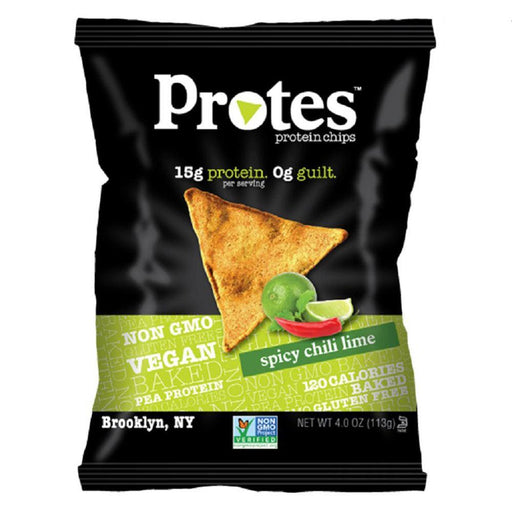 PROTES Foods Juices Spicy Chili Lime Protes Protein Chips 12/Box 4oz Bags (1700663820332)