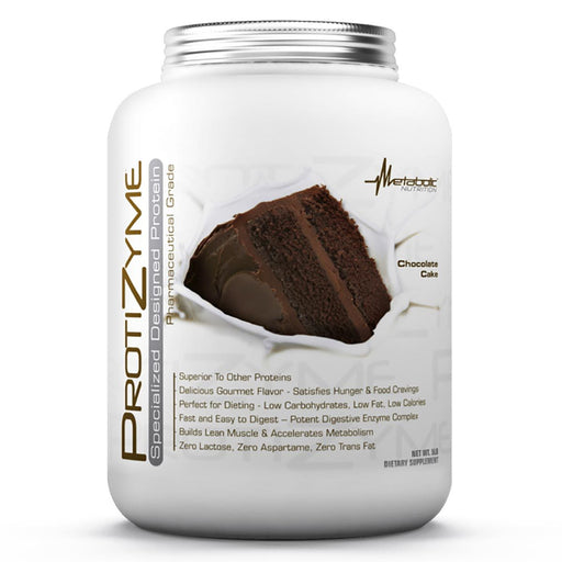 Metabolic Nutrition Sports Nutrition & More Chocolate Cake Metabolic Nutrition Protizyme 5 Lbs (581601951788)