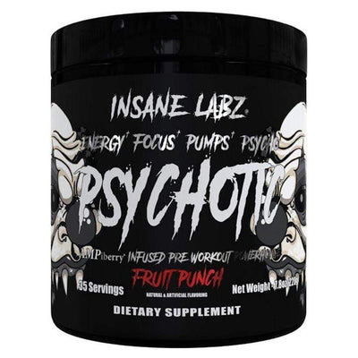 Insane Labz Pre-Workouts Fruit Punch Insane Labz Psychotic Black 35 Servings (4363224481907)