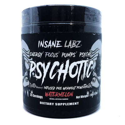 Insane Labz Pre-Workouts Watermelon Insane Labz Psychotic Black 35 Servings (4363224481907)