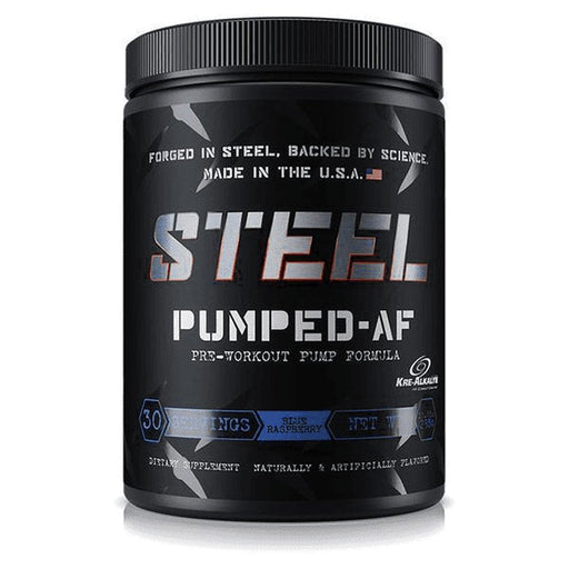 STEEL Sports Performance Recovery Blue Raspberry Steel Pumped AF 30 Servings (3947151360044)