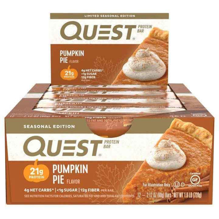 Quest Nutrition Pumpkin Pie Quest Nutrition Quest Bar Natural 12/Box (581382111276)