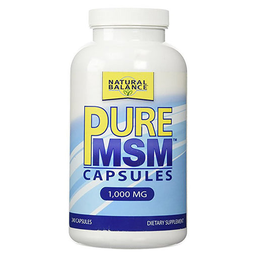 Natural Balance Vitamins, Minerals, Herbs & More Natural Balance Pure MSM 1000mg 240 Caps (581919146028)