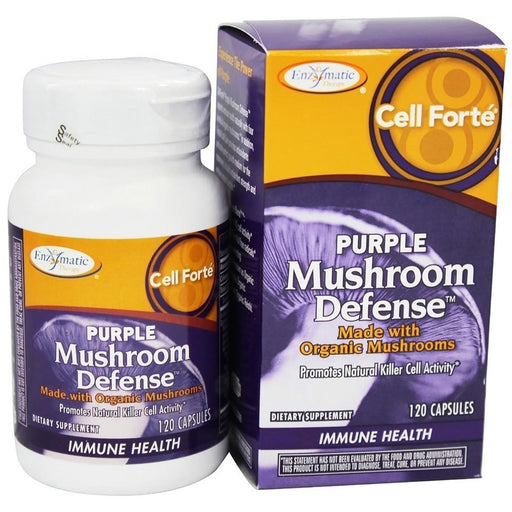 Enzymatic Therapy Vitamins, Minerals, Herbs & More Enzymatic Therapy Cell Forte Purple Mushroom Defense 120 Ultracaps (580804313132)