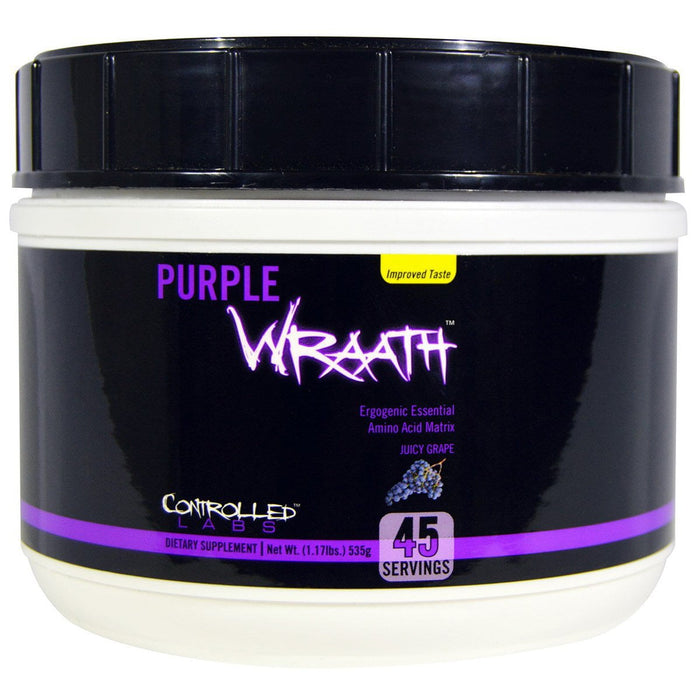 Controlled Labs Sports Nutrition & More Juicy Grape Controlled Labs Purple Wraath 45 Servings (581244092460)