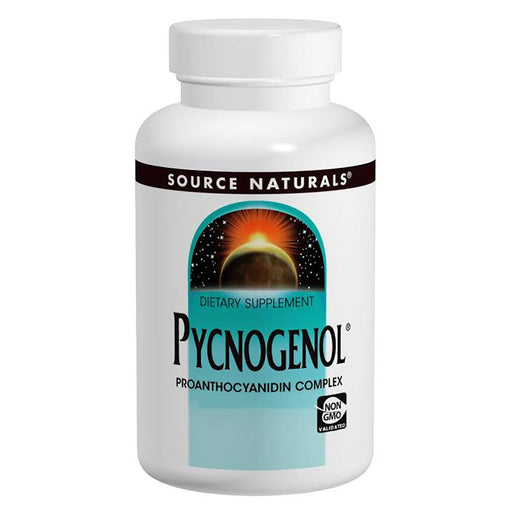 Source Naturals Sports Nutrition & More Source Naturals Pycnogenol (Pine Bark Extract) 25mg 60 Tabs (581585666092)