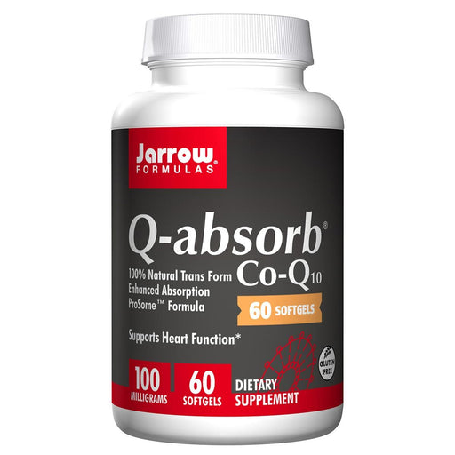 Jarrow Formulas Vitamins, Minerals, Herbs & More Jarrow Formulas Q-absorb Co-Q10 100mg 60 Softgels (581529174060)