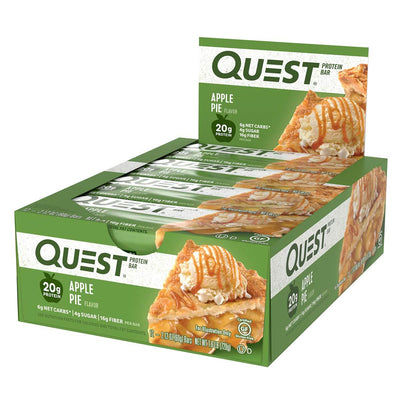 Quest Nutrition Sports Nutrition & More Apple Pie Quest Nutrition Quest Bar Protein Bar 12/Box (581317197868)