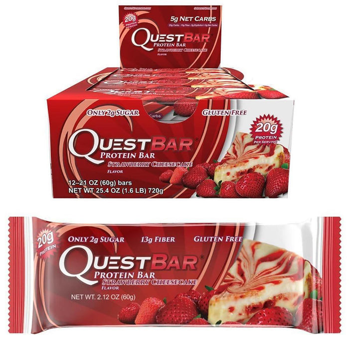 Quest Nutrition Strawberry Cheesecake Quest Nutrition Quest Bar Natural 12/Box (581382111276)