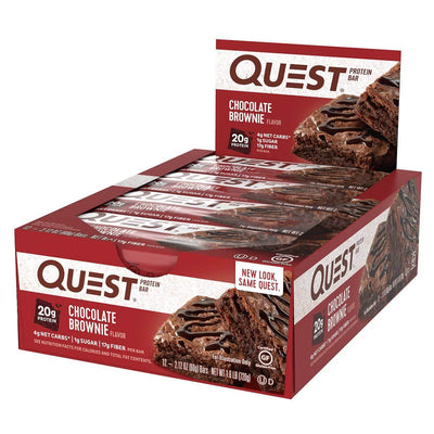 Quest Nutrition Sports Nutrition & More Chocolate Brownie Quest Nutrition Quest Bar Protein Bar 12/Box (581317197868)