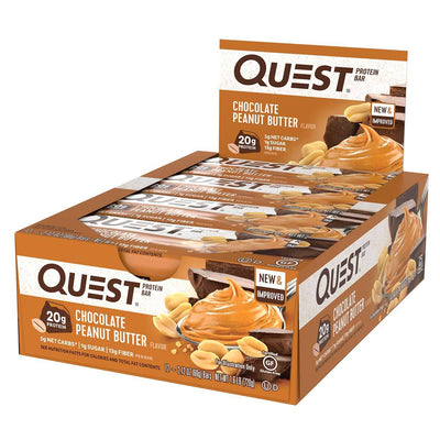 Quest Nutrition Sports Nutrition & More Chocolate Peanut Butter Quest Nutrition Quest Bar Protein Bar 12/Box (581317197868)