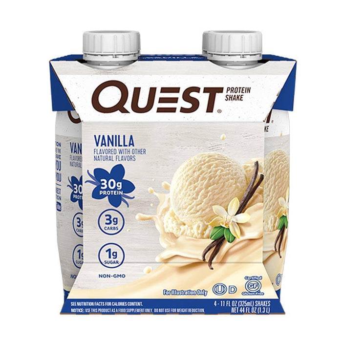 Quest Nutrition Drinks Vanilla Quest Nutrition Protein Shakes 4/Pack (4180268580908)
