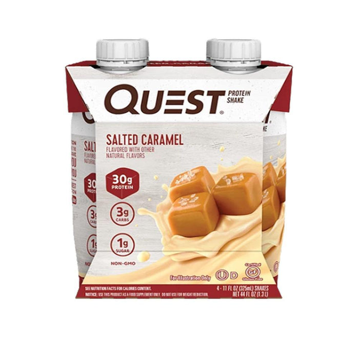 Quest Nutrition Drinks Salted Caramel Quest Nutrition Protein Shakes 4/Pack (4180268580908)