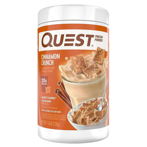 Quest Nutrition Protein Powders Cinnamon Crunch Quest Nutrition Protein Powder 1.6lb (1693186424876)