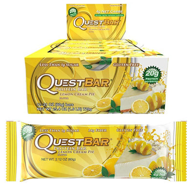 Quest Nutrition Sports Nutrition & More Lemon Cream Pie Quest Nutrition Quest Bar Protein Bar 12/Box (581317197868)