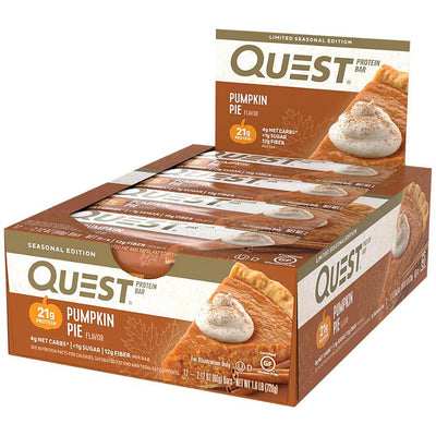 Quest Nutrition Sports Nutrition & More Pumpkin Pie Quest Nutrition Quest Bar Protein Bar 12/Box (581317197868)