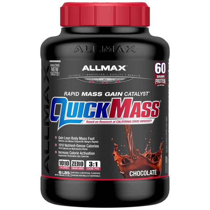 Allmax Nutrition Sports Nutrition & More Chocolate Allmax Nutrition QuickMass Loaded 6 Lbs (581220696108)