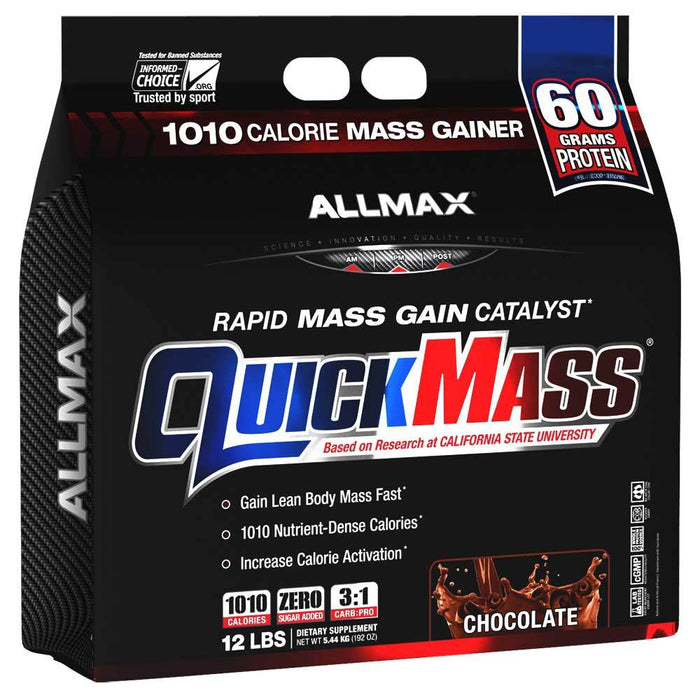 Allmax Nutrition Sports Nutrition & More Chocolate Allmax Nutrition QuickMass Loaded 12 Lbs (581221318700)