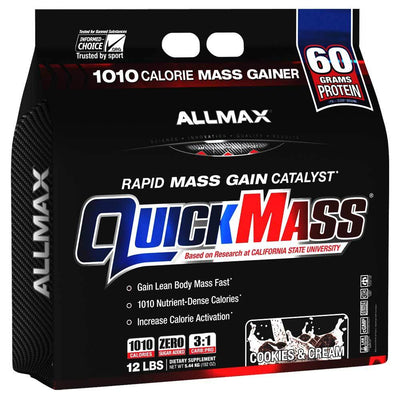 Allmax Nutrition Sports Nutrition & More Cookies and Cream Allmax Nutrition QuickMass Loaded 12 Lbs (581221318700)