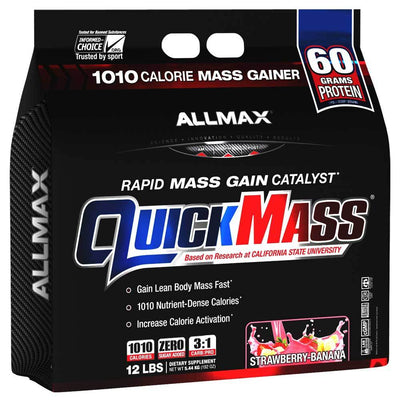 Allmax Nutrition Sports Nutrition & More Strawberry Banana Allmax Nutrition QuickMass Loaded 12 Lbs (581221318700)