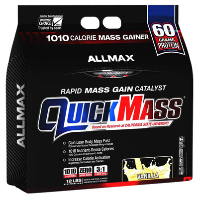 Allmax Nutrition Sports Nutrition & More Vanilla Allmax Nutrition QuickMass Loaded 12 Lbs (581221318700)