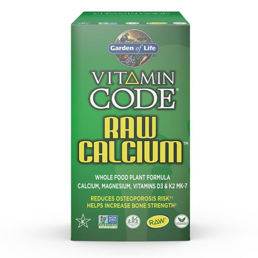 Garden of Life Vitamins, Minerals, Herbs & More Garden of Life Vitamin Code Raw Calcium with AlgaeCal 60 Caps (580977197100)