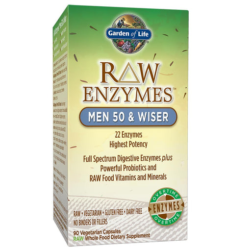 Garden of Life Vitamins, Minerals, Herbs & More Garden of Life Raw Enzymes Men 50 and Wiser 90 Vege Caps (581203525676)