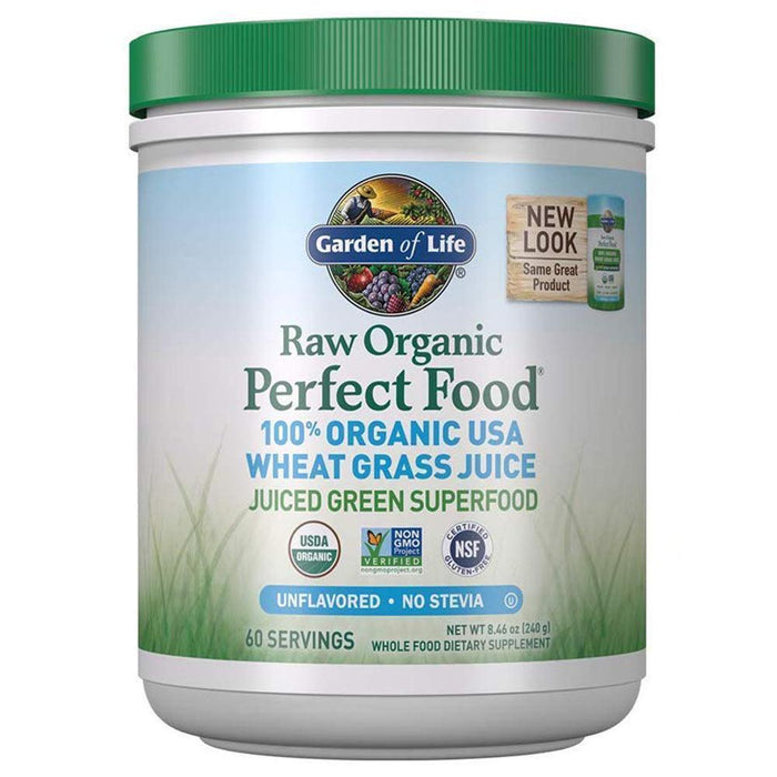Garden of Life Specialty Health Products GOL Raw Organic Perfect Food Wheat Grass Powder 240g (4180349452332)