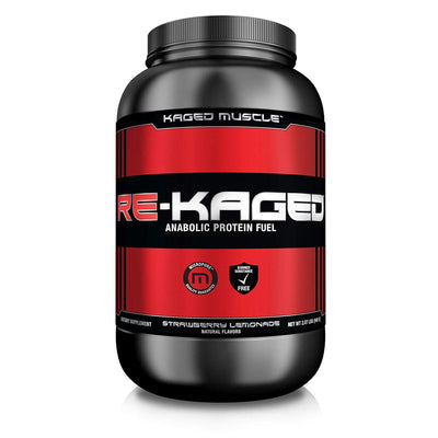 Kaged Muscle Protein Powders Strawberry Lemonade Kaged Muscle Re-Kaged 20 Servings (1315231334444)