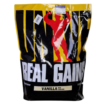 Universal Sports Nutrition & More Vanilla Ice Cream Universal Real Gains 6.85 Lbs