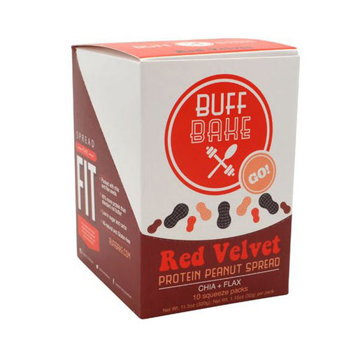Buff Bake Sports Nutrition & More Buff Bake Red Velvet Protein Peanut Butter Spread 10 Pack (582534365228)