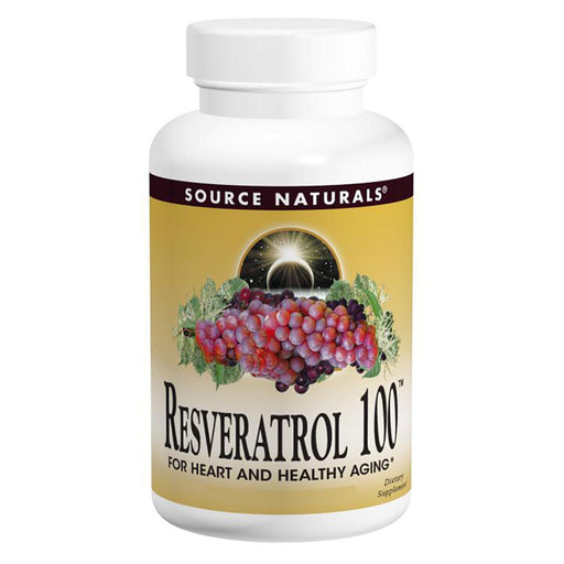 Source Naturals Vitamins, Minerals, Herbs & More Source Naturals Resveratrol 100mg 120 Caps (580964843564)