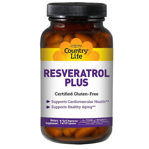 Country Life Vitamins, Minerals, Herbs & More Country Life Resveratrol Plus 100mg 120 Vege Caps (580984602668)