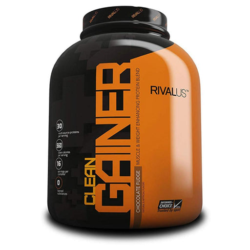 Rivalus Protein Powders Chocolate Fudge Rivalus Clean Gainer 5lb (1713581719596)